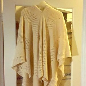 """Anthropologie """"sleeping IN the snow"""" hooded poncho"""